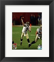 Framed Drew Brees Super Bowl XLIV Action (#14)