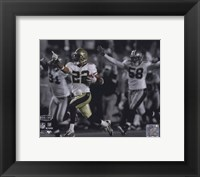 Framed Tracy Porter Super Bowl XLIV Spotlight Action (#23)