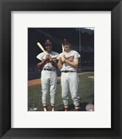 Framed Frank Robinson and Brooks Robinson COLOR