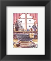 Vintage Bathtub l Framed Print