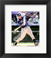 Framed Chase Headley 2010 Action