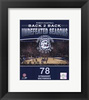 Framed 2010 University of Connecticut Huskies Women's Basketball Back to Back Undefeated Seasons