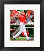 Framed Jay Bruce 2010 Action