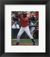 Framed Vladimir Guerrero 2010 in action