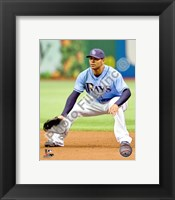 Framed Carlos Pena 2010 Action On The Field