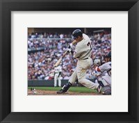 Framed Joe Mauer 2010 Action