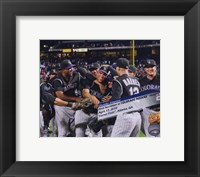 Framed Ubaldo Jimenez 2010 No-Hitter Celebration