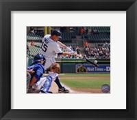 Framed Brandon Inge 2010 hitting the ball
