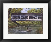 Ducks on the River Framed Print
