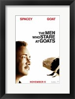 Framed Men who Stare at Goats - style B