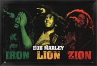 Framed Bob Marley - Iron Lion Zion