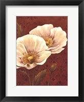 Framed Poppies On Red- mini