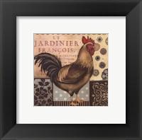 Aqua Rooster Framed Print