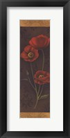 Framed Red Poppy Panel I - mini