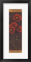 Framed Red Poppy Panel II - mini