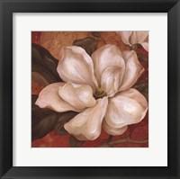 Magnolia On Red II - mini Framed Print