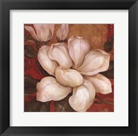 Magnolia On Red I - mini Framed Print