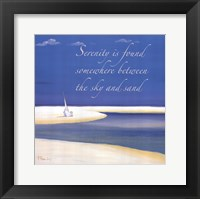 Framed Serenity Sentiment