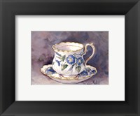 Framed Morning Glory Teacup