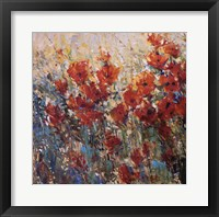 Framed Red Poppy Field I