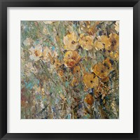 Amber Poppy Field I Framed Print