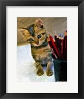 Framed Birdie & Pencils