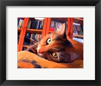 Framed Kitty that Reads