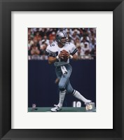 Framed Roger Staubach Action