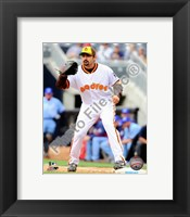 Framed Adrian Gonzalez 2010 Fielding Action