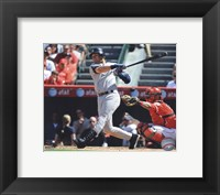 Framed Derek Jeter 2010 Batting Action
