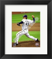 Framed Trevor Hoffman 2010 Milwaukee Brewers