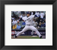 Framed Trevor Hoffman 2010 Pitching Action