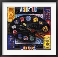 Framed Artistic Liscence