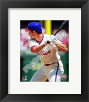 Framed Chase Utley batting in 2010