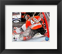 Framed Michael Leighton 2009-10 Playoff Action