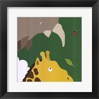 Safari Group: Giraffe and Rhino Framed Print