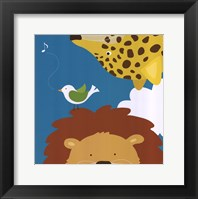 Safari Group: Leopard and Lion Framed Print