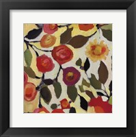 Framed Floral Tile II