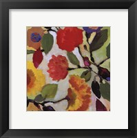 Framed Floral Tile III