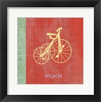Framed Vintage Toys Tricycle