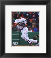 Framed Dustin Pedroia 2010 Action