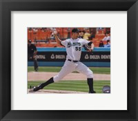 Framed Josh Johnson 2010 Action Pitching