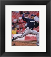 Framed Trevor Hoffman 2010 Action