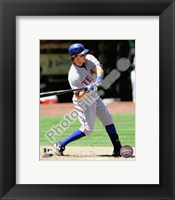 Framed Ian Kinsler 2010 Action Hitting