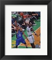 Framed Kevin Garnett 2009-10 Playoff Action