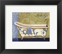 Blue Botanical Bath I Framed Print