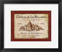 Framed French Wine Labels I