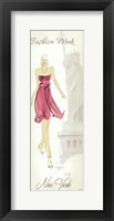 Fashion Lady II Framed Print