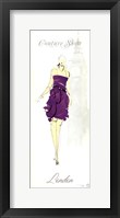 Fashion Lady III Framed Print