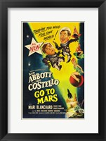 Framed Abbott and Costello Go to Mars, c.1953